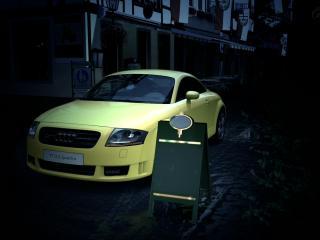 обои Желтая тт возле  объявления фото