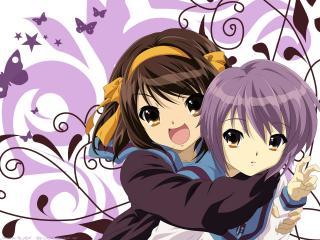 обои Харухи и Юки Нагато фото