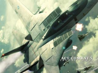 обои Ace Combat 5 The Unsung War полет фото