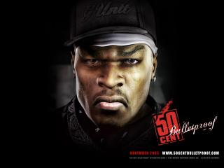 обои 50 Cent Bulletproof злой фото