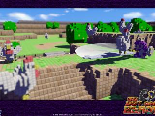 обои 3D Dot Game Heroes городок фото