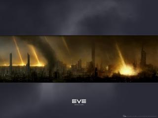 обои EVE Online пожар фото