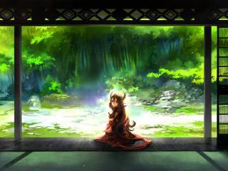 обои Двери в царство зелени фото