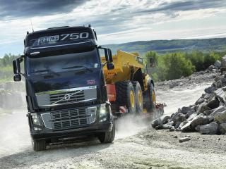 обои Тралл Volvo с грузовиком фото