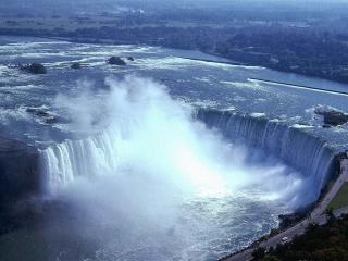 обои Ниагарский водопад и брызги фото