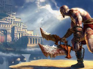 обои Кратос из игры Бог войны фото