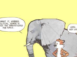 обои Хоббс и Кельвин-слон фото