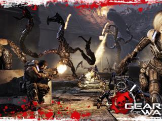 обои для рабочего стола: Gears of War 3 все в крови