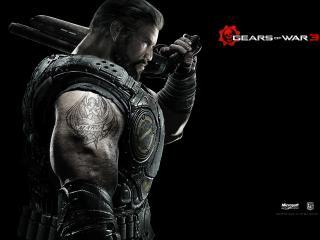 обои для рабочего стола: Gears of War 3 накаченый