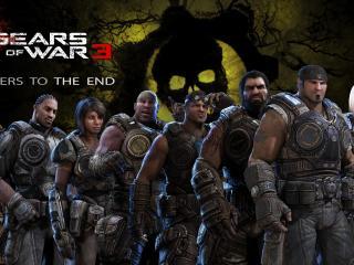 обои для рабочего стола: Gears of War 3 сильная команда