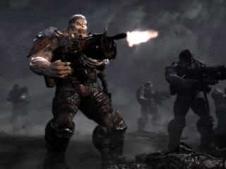 обои Gears of War 3 стрельба фото
