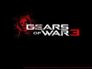 обои для рабочего стола: Gears of War 3 темнота лого