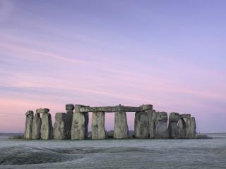 обои Стоун Хендж,  закат,  камни фото