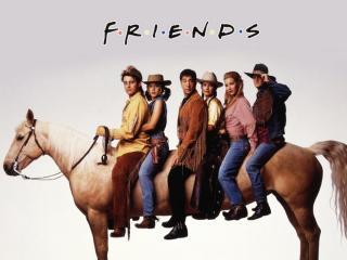обои Друзья на лошади фото