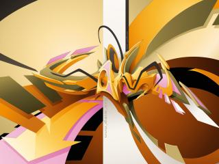 обои Абстрактное но красивое граффити фото