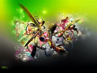 обои Абстракция в стиле граффити фото