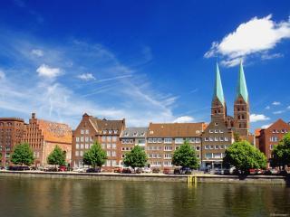 обои Речки в городе Любек,   Германия фото