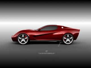 обои Ugur Sahin Design Chevrolet Corvette Z03 бок фото