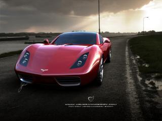 обои Ugur Sahin Design Chevrolet Corvette Z03 капот фото