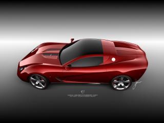 обои Ugur Sahin Design Chevrolet Corvette Z03 красненький фото