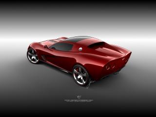 обои Ugur Sahin Design Chevrolet Corvette Z03 сбоку фото
