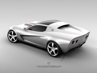 обои Ugur Sahin Design Chevrolet Corvette Z03 серебристый фото
