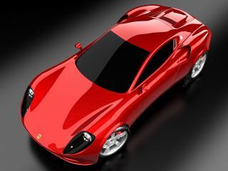обои Ugur Sahin Design Ferrari DINO крыша фото