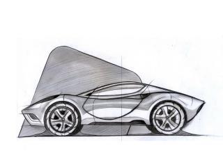 обои Ugur Sahin Design Ferrari DINO эскиз сбоку фото