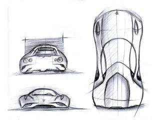 обои Ugur Sahin Design Ferrari DINO эскиз фото