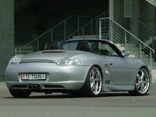 обои Z-Art Porsche Boxter сзади фото