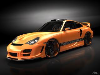 обои Top Art Porsche 911 996 бок фото