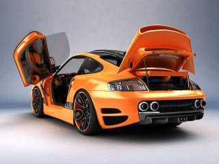обои Top Art Porsche 911 996 все открыто фото