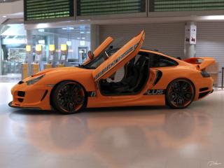 обои Top Art Porsche 911 996 крылья фото