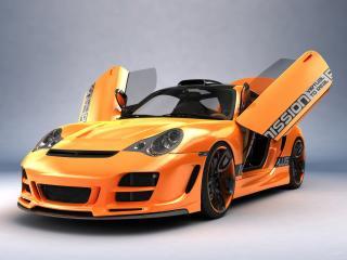обои Top Art Porsche 911 996 октрыты двери фото