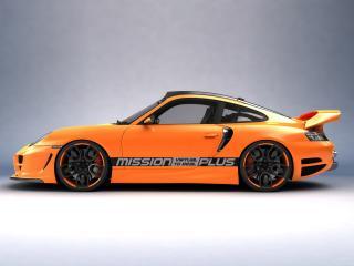обои Top Art Porsche 911 996 оранжевая фото