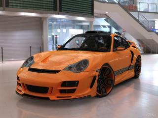 обои Top Art Porsche 911 996 передок фото