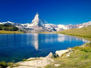 обои Голубое озеро фото