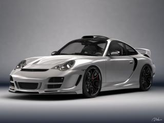 обои Top Art Porsche 911 996 серебристая фото