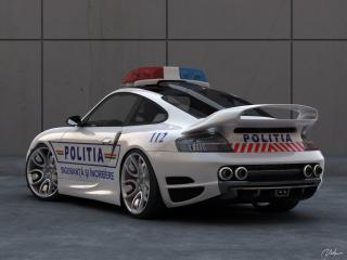 обои Top Art Porsche 911 996 зад полицейская фото