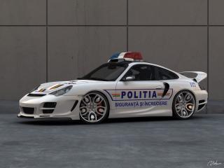 обои Top Art Porsche 911 996 полиция фото