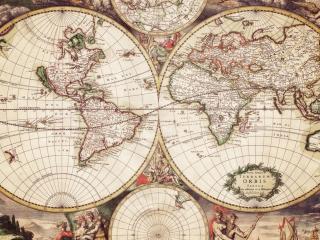 обои Старая карта мира фото