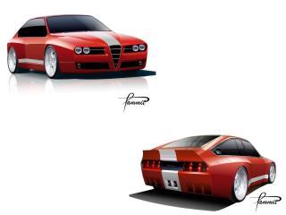 обои Racer X Design Alfa Romeo GTV Evoluzione эскиз фото