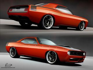обои 2010 Racer X Design Cuda AAR-10 оранжевая фото