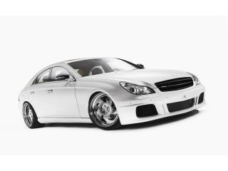 обои Wheelsandmore Mercedes-Benz CLS White Label сбоку фото