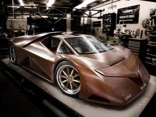 обои Splinter Wooden Supercar красивый фото