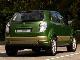 обои для рабочего стола: SsangYong C200 Eco Hybrid Concept зад