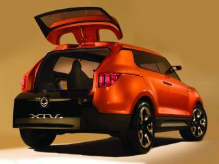 обои для рабочего стола: SsangYong XIV-1 Concept открыт багажник