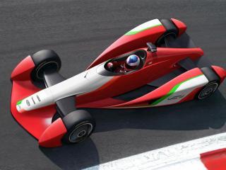 обои 2009 Fioravanti LF1 Concept сверху фото