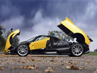 обои Pagani Zonda F 2005 все открыто фото