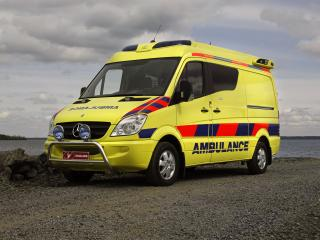 обои Tamlans Mercedes-Benz Sprinter Ambulance (W906) спереди фото